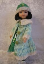 Dress Coat Hat Tights Boots for doll Paola Reina Little Darling 32 cm handmade