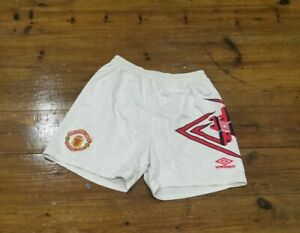 Vintage Retro Manchester United Home Football Shorts 1992/94 Waist 32 34 Umbro