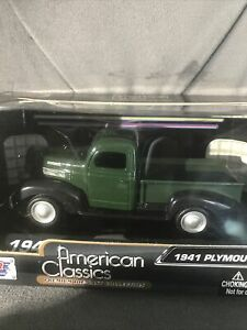 1941 Plymouth Pickup 1:43 Motor Max American Classics Model Diecast Rare Find