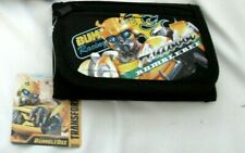 Transformers Bumble Bee Black Tri-Fold Easy Closure Wallet-New With Tags!
