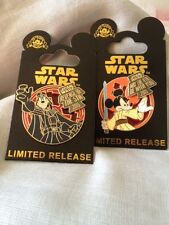"""Disney Star Wars Mickey """"May the 4th be"""" & Goofy """"Revenge of the 5th""""  2 PINS"""