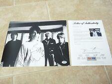 Bono & Adam Clayton U2 Sexy Signed Autographed 11x14 Photo Psa Certified