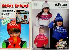Mon Tricot Knit and Crochet Children's Patterns & Patons Fair Isles Sweathers