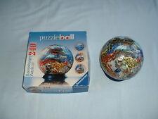 Ocean World bola de rompecabezas 240 Pieza 3D Rompecabezas con soporte de base (Ravensburger/Mar)