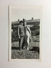 Vintage Real Photograph - #S - Man And Young Women - Wolf Dog