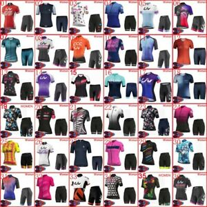 Womens Team Bike Outfits Cycling Jersey And Shorts Set Bike Shirt & Shorts Suit