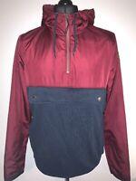 Hollister Hoodie Men's Soft Trackie Jacket Top Blue Burgundy Medium M VGC