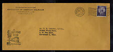 1954 Washington DC Cover to Cleveland OH USA Association of American Railroads