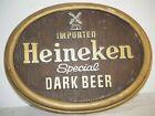 "Vintage Heineken Special Dark Beer Sign 13.5"" Oval Windmill Imported"