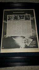 Journey Look Into The Future Rare Original Promo Poster Ad Framed!