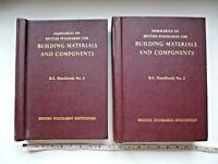 """VOLUMES 1 & II  """"BUILDING MATERIALS AND COMPONENTS""""    B.S. Handbook No 3."""