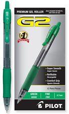 Pilot G2 12-Pack Green Fine Point Retractable Premium Gel Ink Roller Ball Pens