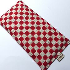 WHEAT BAG SMALL HEAT PACK Eye Pillow Red Chequered  23 x 13 cm  Unscented