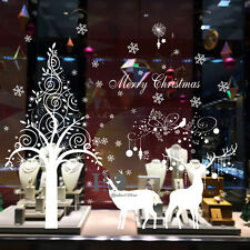 Christmas Reindeer Removable Wall Stickers Vinyl Decals Shop Window Mural Decor