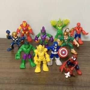 10x Playskool Marvel Super Heroes Adventures Hulk Iron Spider Man Figure Toys