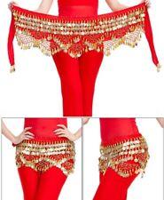 Belly Dance Costume Hip Scarf Tribal Triangle hip Belt Skirt Velvet Gold coins