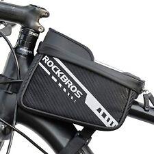 ROCKBROS Fahrradtasche Rahmentasche Oberrohrtasche für Handys 7,5'' Seitentasche