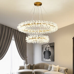 Modern Luxury Gold Metal Crystal Chandelier Fixture Light Garland Firefly Lamp