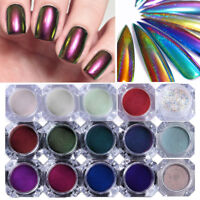 Chameleon Holographic Mirror Effect Nail Glitter Powder Dust Chrome Pigment DIY