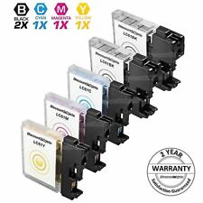 5pk LC61 LC61BK Black & Color Printer Ink Cartridge for Brother MFC-J615W