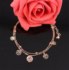 New Charm Gold Plated Anklets Lovely Carving Hollow Ankle Bracelet Foot Chain*v*