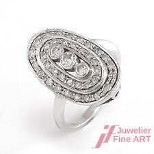 Ring - 18K/750 Weißgold - Diamantbesatz ca. 1 ct W-SI - Gr. 53 - 5,6 g