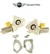 For Mini Cooper R50 R52 05-08 Pair of Front Power Window Motors & Adapter Plate