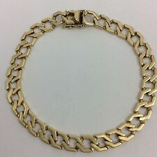 21.9 GRAMS 14K YELLOW GOLD MENS OR LADIES LINK BRACELET 8.5""