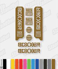 FORCELLA di sospensione RockShox BoxxeR 2006 2007 2008 2009 le decalcomanie / gli adesivi - 12 + colori (solido)