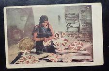{BJSTAMPS}  HOPEI (Moki) BASKET Weaver Postcard 1905 Postmark