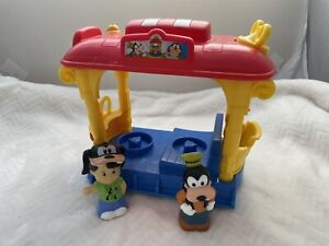 Fisher Price Little People Magic of Disney Musical Jolly Trolley Goofy and Boy