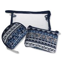3pcs/set Portable Cosmetic Storage Pouch Travel Makeup Bag Zipper Toiletry Bags