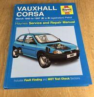 Vauxhall Corsa Haynes Workshop Service Manual 1993 to 1997 K to R Reg 1985