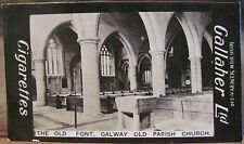 OLD FONT Galway PARISH CHURCH Cigarette Card GALLAHER IRISH VIEWS 230 Ireland