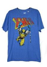 Marvel Xmen Wolverine Attack Blue Tshirt Short Sleeve Men's Size Large