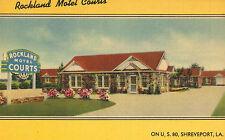 Shreveport,Louisiana,Rockland Motel Courts,Linen Roadside,c.1940s