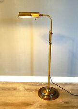 "STIFFEL Pharmacy Lamp Adjustable brass light 35"" - 54"" tall with dimmer"
