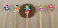 1:12 Scale 5 Hand Made Polymer Pirates On A Stick Tumdee Dolls House Nursery Toy