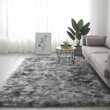 Large Shaggy Area Rugs Fluffy Tie-Dye Floor Soft Carpet Living Bedroom Room Rug