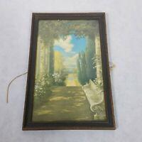 Vintage R Atkinson Fox Print Wooded Path Chromolithograph Framed