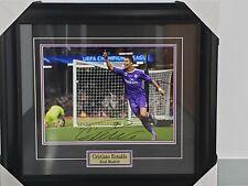 Cristiani Ronaldo Real Madrid Enmarcado autografiado foto oficial iconos Certificado