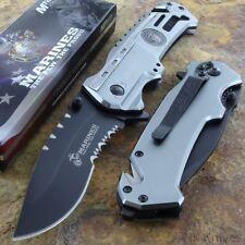 Couteau Des Marines l'USMC A/O Carbone Serr Manche Alu Brise Vitres USMA1002DS