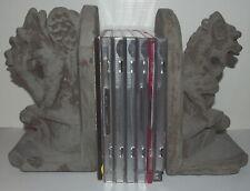 1994 Hpi Sitting Gargoyle Statues Bookends Cd Shelf Holders Unique Duo