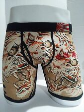 Ed Hardy Men's Underwear Tiger Print Boxer Briefs Size S Father's day gift