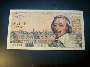 Billet 1000 Francs Richelieu 03/02/55 TB Fay 42-10