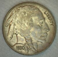 1930 US Buffalo 5c Five Cent Coin Copper Nickel Uncirculated
