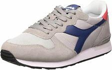 Diadora Camaro Grey Navy Mens Suede Trainers Shoes