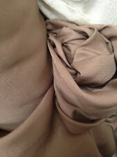 Rideau tissu laura ashley taupe uni satin repp tissage naturel 10 mètre rouleau