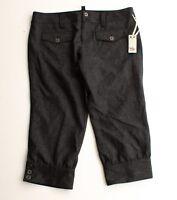 New Joie Gray Wool Herringbone Crop Maternity Pants Size S Small