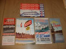 10 VINTAGE 1960s 1000 Islands Brochures American Boat Line Hotel Ontario Clayton